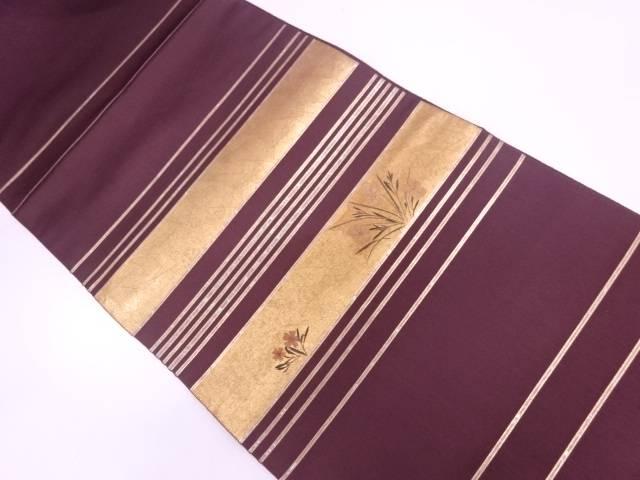 未使用品 陰山織物製 押し花螺鈿袋帯【リサイクル】【中古】