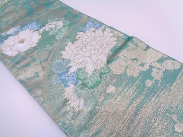 河村美術織物製 琳派寿秋文織出し袋帯【リサイクル】【中古】