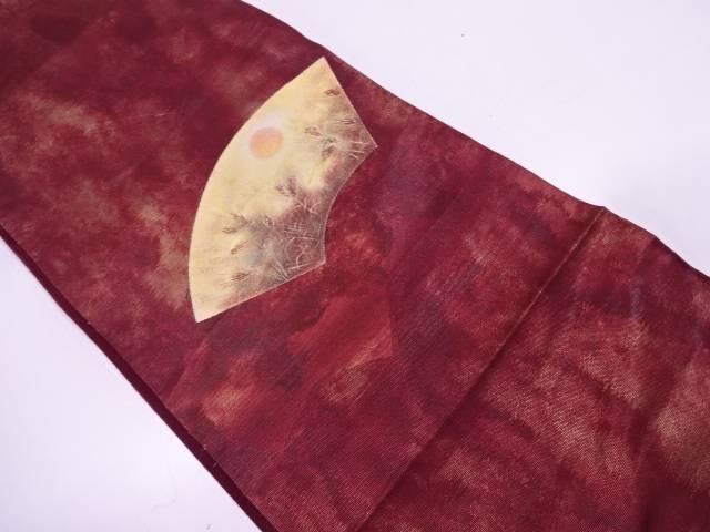 地紙に武蔵野模様袋帯【リサイクル】【中古】