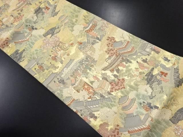 本金箔 祇園祭模様織り出し袋帯【リサイクル】【中古】