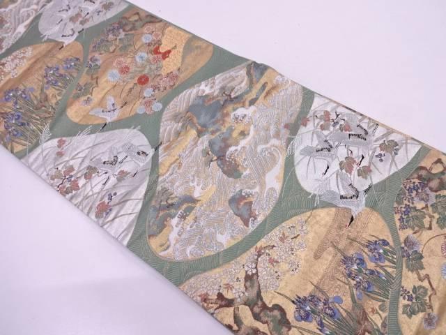 金銀装飾文織出し袋帯【リサイクル】【中古】