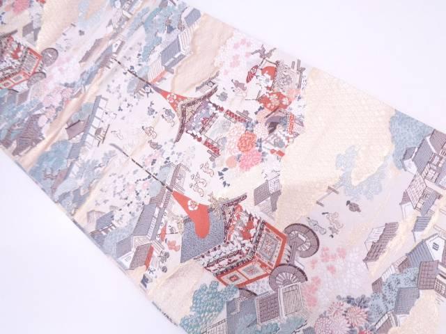 祇園祭模様織出し袋帯【リサイクル】【中古】