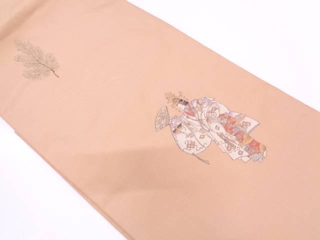 能模様織出し袋帯【リサイクル】【中古】