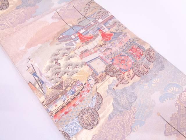 本金箔祇園の調織出し袋帯【リサイクル】【中古】