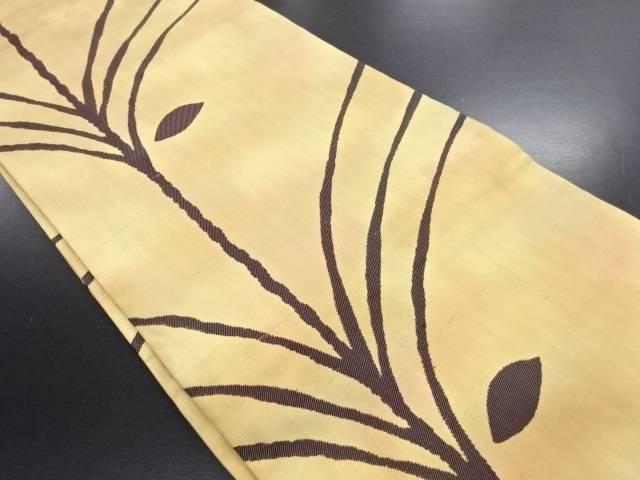 節紬木立模様織り出し名古屋帯【リサイクル】【中古】