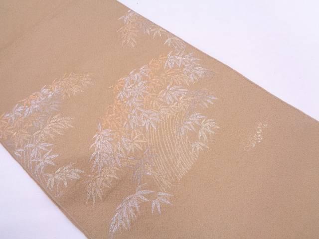 龍村平蔵製 竹の園生錦織出し袋帯(着用可)【アンティーク】【中古】