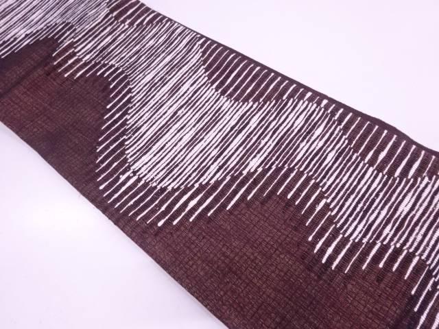 流水模様織出し袋帯【リサイクル】【中古】