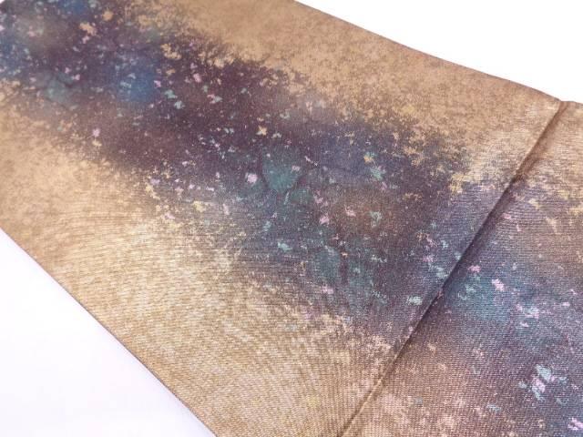 未使用品 引箔抽象模様袋帯【リサイクル】【中古】