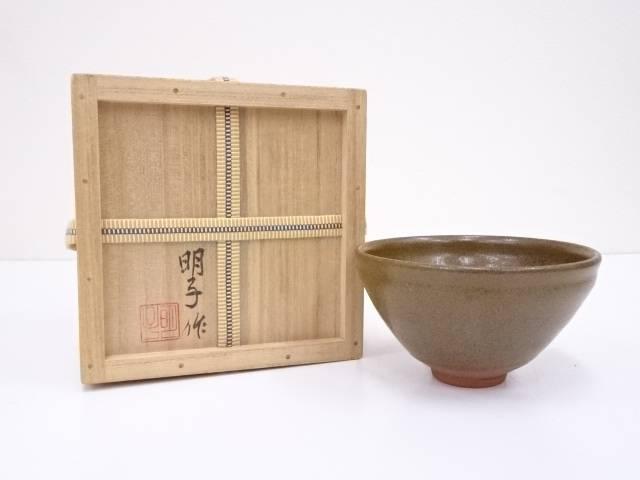 明子造 蕎麦釉茶碗