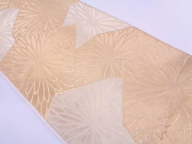 川島織物製 花模様織出し袋帯【リサイクル】【中古】