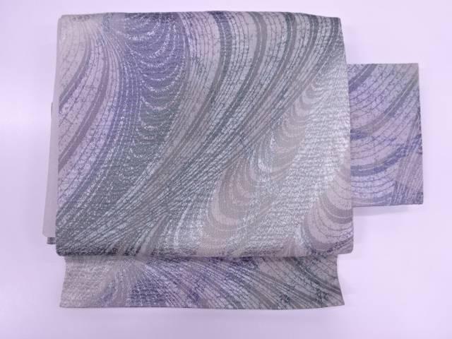 抽象模様織出し作り帯【リサイクル】【中古】