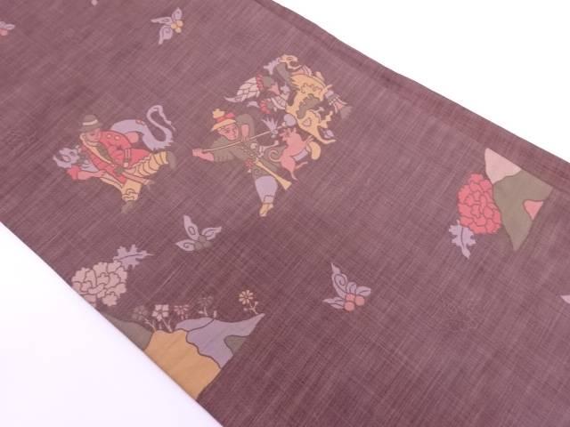木屋太製 狩猟模様織出し袋帯【リサイクル】【中古】