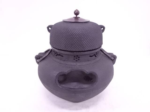 霰地紋朝鮮風炉・切合釜