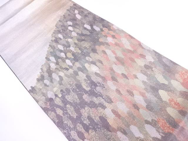未使用品 紀州螺鈿樹木模様織出し袋帯【リサイクル】【中古】