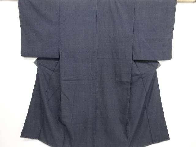十字模様織り出し本塩沢男物着物【リサイクル】【中古】