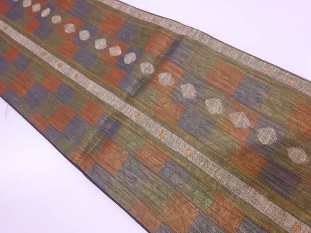 野々村機業製 抽象模様織出し袋帯 【リサイクル】【中古】