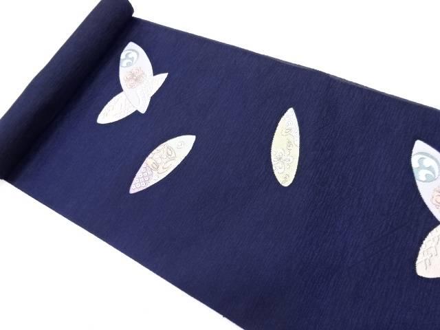 京都イシハラ製 古典柄に抽象家紋模様織り出し名古屋帯地反物【新品】