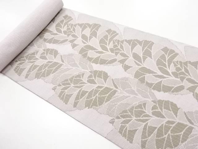京都イシハラ製 葉模様織り出し名古屋帯地反物【新品】