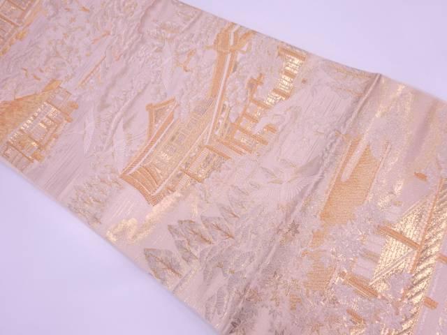 未使用品 京風景模様織出し袋帯【リサイクル】【中古】