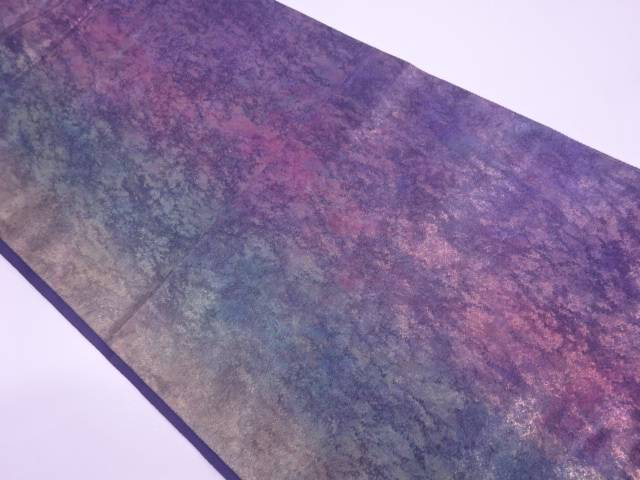 陶漆箔抽象模様袋帯(未仕立て)【リサイクル】【中古】