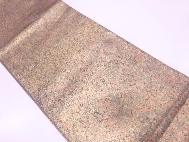 引き箔抽象模様袋帯【リサイクル】【中古】
