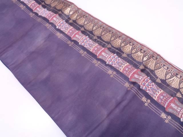 未使用品 神殿柱模様織出し袋帯【リサイクル】【中古】