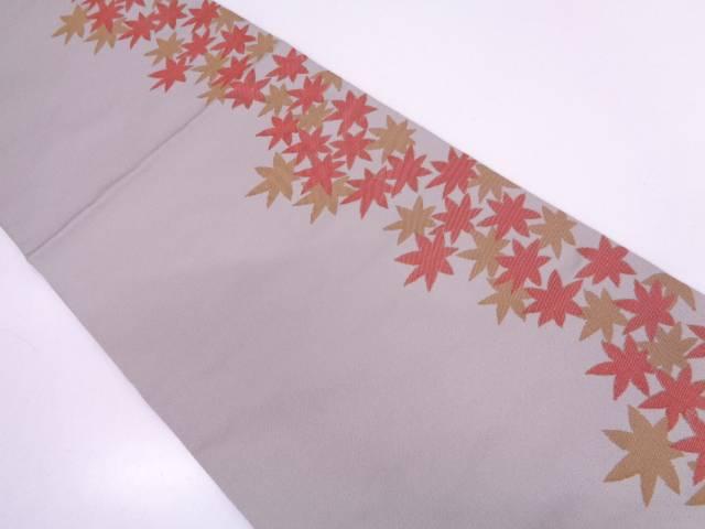 紅葉模様織出し袋帯【リサイクル】【中古】