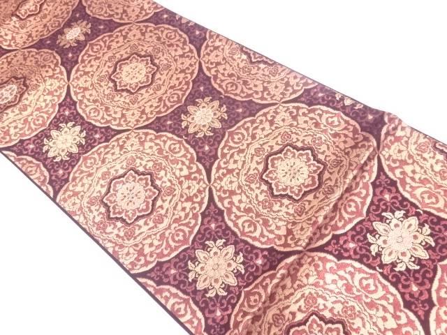 新装織物製 彩箔二重織オリエント華紋織出し袋帯(未仕立て)【リサイクル】【中古】