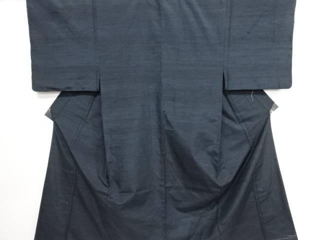 未使用品 手織り紬男物着物アンサンブル・長襦袢セット【リサイクル】【中古】
