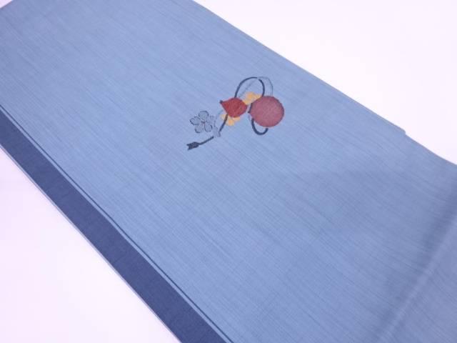 未使用品 瓢箪に花模様織出し袋帯【リサイクル】【中古】