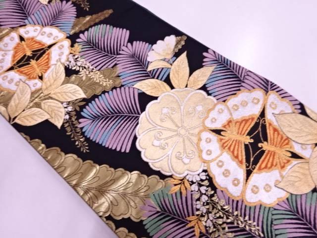 花水月織出し振袖用袋帯【リサイクル】【中古】
