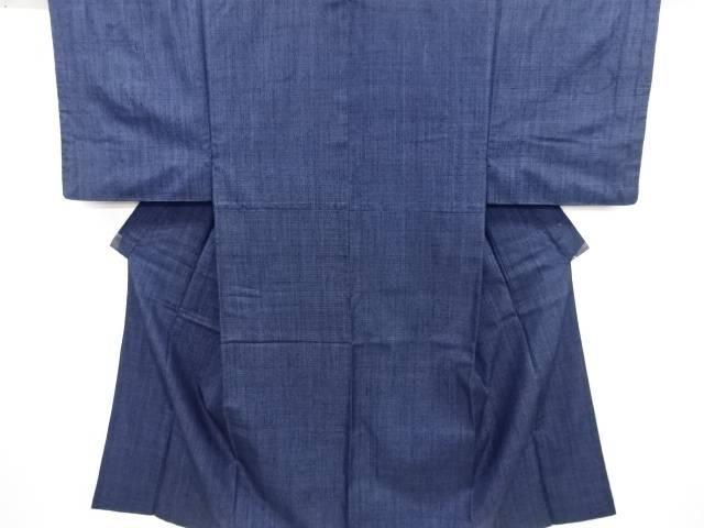 亀甲絣柄織り出し手織り真綿紬男物着物アンサンブル【リサイクル】【中古】