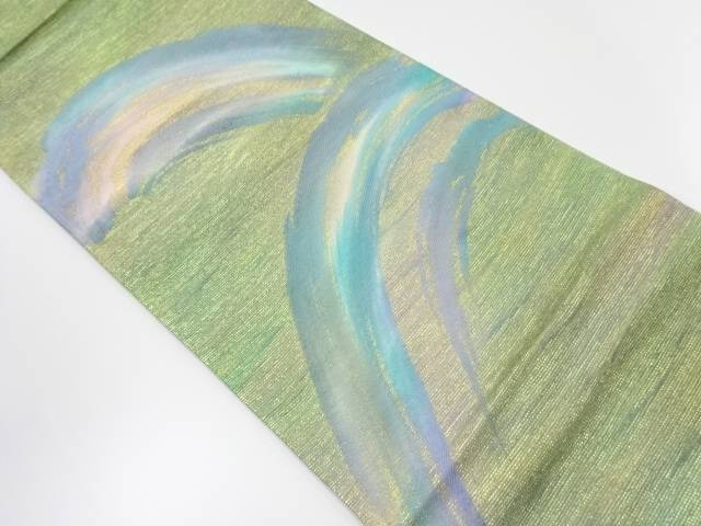 作家物 抽象模様織出袋帯【リサイクル】【中古】