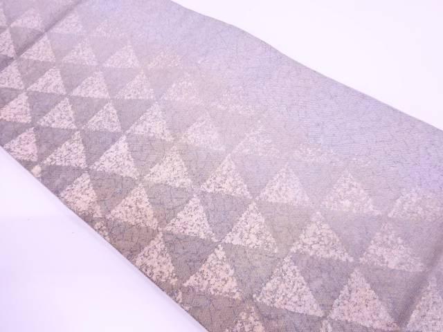 未使用品 鱗に抽象模様織出し全通袋帯【リサイクル】【中古】