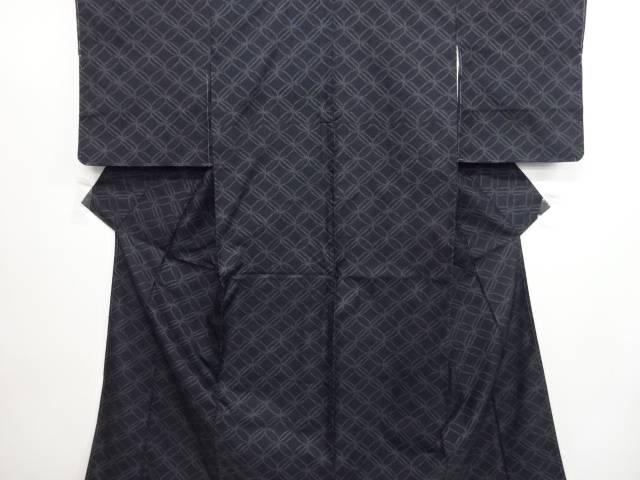 未使用品 七宝模様織り出し本場泥大島紬着物(5マルキ)【リサイクル】【中古】