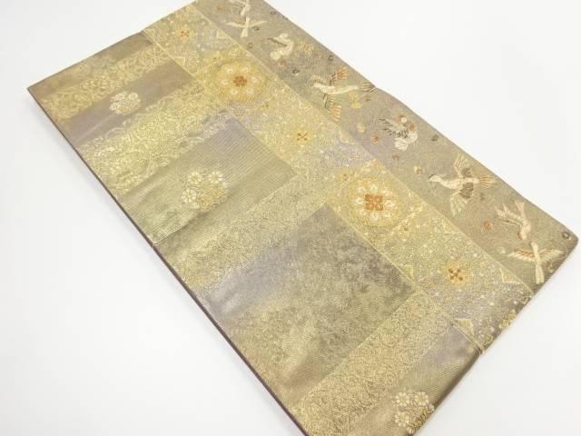 未使用品 本金華紋に鴛鴦模様織り出し袋帯【リサイクル】【中古】