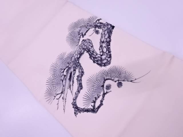 塩瀬手描き松模様袋帯【リサイクル】【中古】