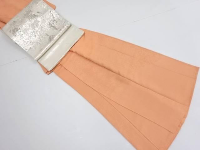 未使用品 寿光織時代人物風景模様織り出し一つ紋付け下げ色無地着物・袋帯セット【リサイクル】【中古】