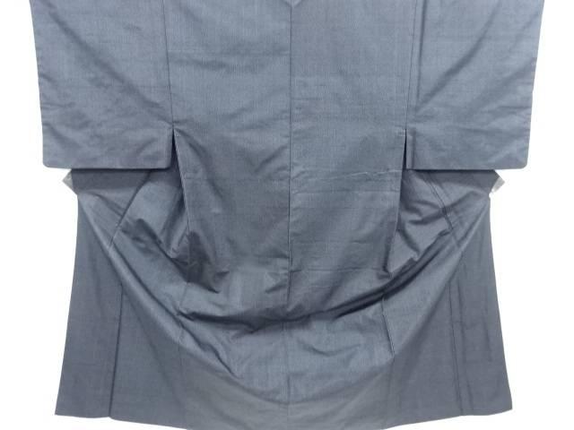 抽象模様織り出し手織り紬男物着物アンサンブル【リサイクル】【中古】