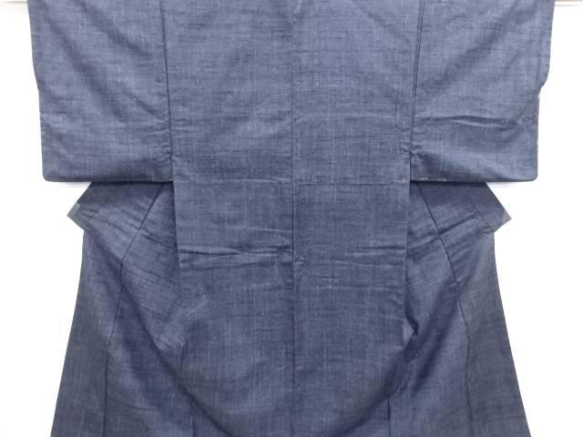 手織り真綿紬 男物着物アンサンブル【リサイクル】【中古】