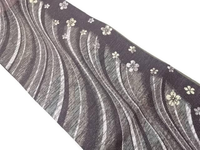 未使用品 本金線描きに花模様織出袋帯【リサイクル】【中古】