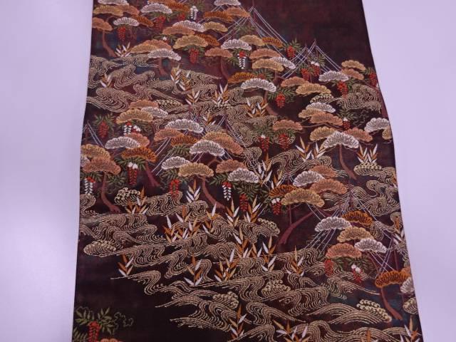 d504fa00b8b4 未使用品 波に松·藤模様織出し袋帯【リサイクル 羽織】 袋帯【】:Kimono-Shinei 2号店【合計1万円以上の購入で送料無料 宮古上布】