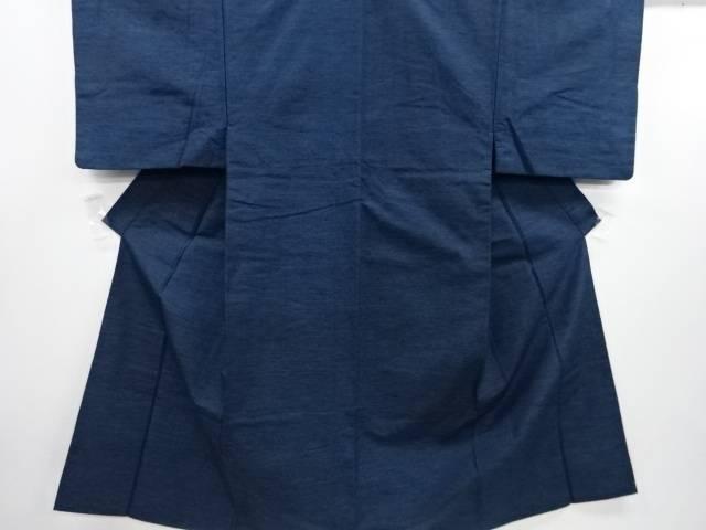 織り柄手織り節紬男物着物アンサンブル【リサイクル】【中古】
