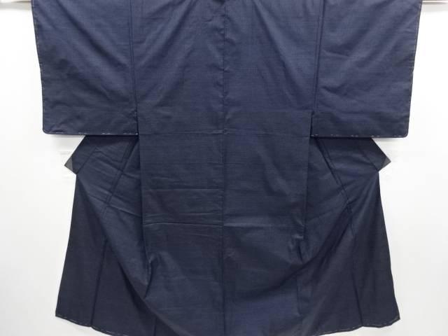 未使用品 仕立て上がり 本場泥大島紬100亀甲男物着物アンサンブル長襦袢セット