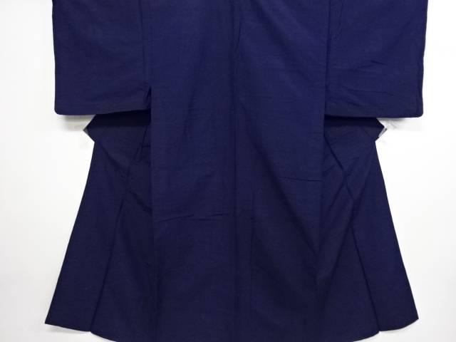 手織り紬単衣着物アンサンブル【リサイクル】【中古】