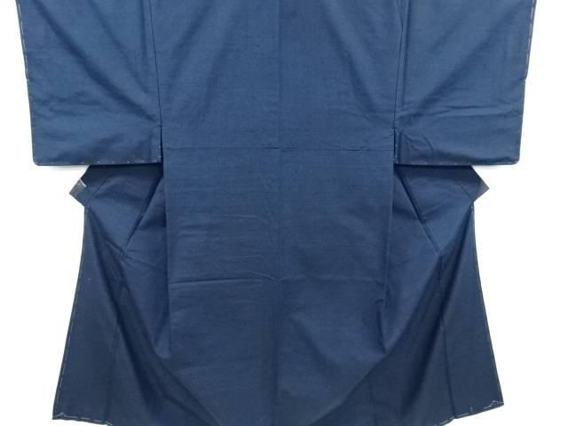 未使用品 仕立て上がり 手織り真綿紬男物着物アンサンブル長襦袢セット