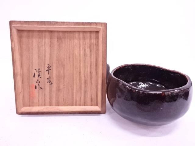 渓山造 天目釉茶碗