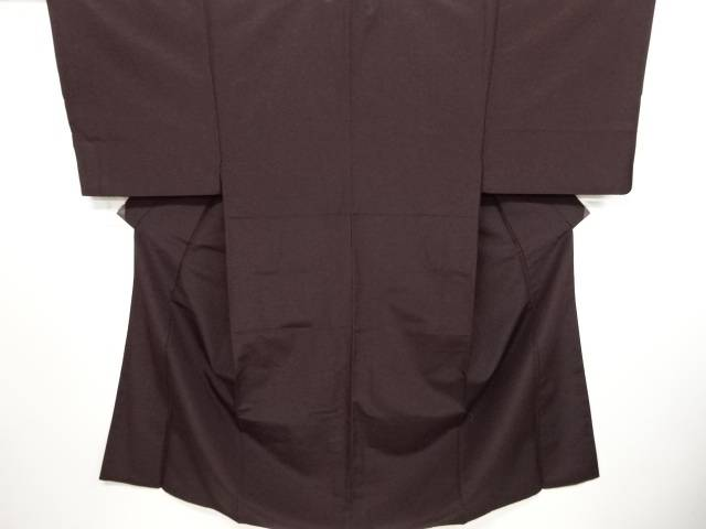 手織りひげ紬一つ紋男物着物アンサンブル(キングサイズ)【リサイクル】【中古】