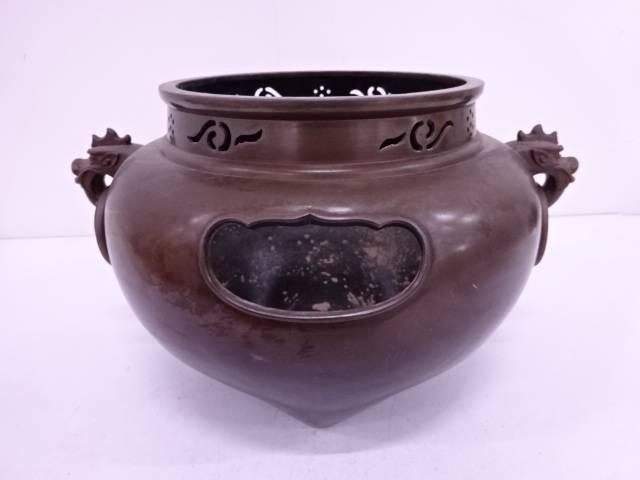 銅器鬼面風炉