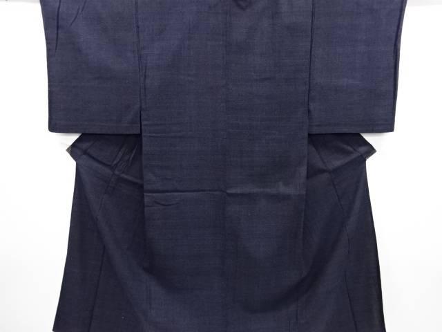 重要無形文化財本場結城紬100亀甲単衣男物着物【リサイクル】【中古】
